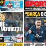2017年6月13日(火)のバルセロナスポーツ紙:ベラッティはバルサ希望