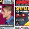 2017年7月10日(月)のバルセロナスポーツ紙:ベラッティとパウリーニョ