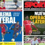 2017年7月13日(木)のバルセロナスポーツ紙:右ラテラル補強 第二幕へ