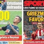 2017年8月01日(火)のバルセロナスポーツ紙:コウチーニョとグリエスマン