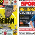2017年8月10日(木)のバルセロナスポーツ紙:デンベレもコウチーニョも一筋縄では行かず