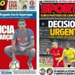 2017年8月15日(火)のバルセロナスポーツ紙:パウリーニョ獲得