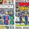 2017年8月17日(木)のバルセロナスポーツ紙:逆転どころか完敗でクライシスモード