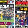 2017年8月21日(月)のバルセロナスポーツ紙:バルサ、リーガ開幕戦勝利