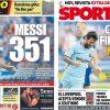 2017年8月27日(日)のバルセロナスポーツ紙:メッシがもたらす勝利