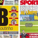 2017年8月30日(水)のバルセロナスポーツ紙:コウチーニョはどうなる