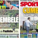 2017年9月08日(金)のバルセロナスポーツ紙:デンベレとイニエスタ