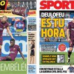 2017年9月19日(火)のバルセロナスポーツ紙:デンベレの手術とエイバル戦