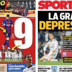 2017年9月22日(金)のバルセロナスポーツ紙:マドリー不調で飯が美味い