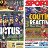 2017年9月25日(月)のバルセロナスポーツ紙:全勝はバルサだけ