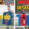 2017年9月26日(火)のバルセロナスポーツ紙:スアレスに期待