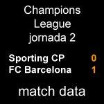 マッチデータ|チャンピオンズ第2節 スポルティング 0-1 バルサ