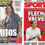 2017年9月30日(土)のバルセロナスポーツ紙:プジとメッシとバルベルデ