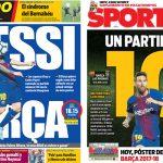 2017年10月01日(日)のバルセロナスポーツ紙:メッシの試合