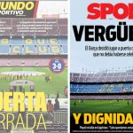 2017年10月02日(月)のバルセロナスポーツ紙:無観客試合