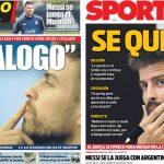 2017年10月05日(木)のバルセロナスポーツ紙:対話を訴えるピケ