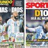 2017年10月12日(木)のバルセロナスポーツ紙:続・メッシ神