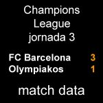 マッチデータ|チャンピオンズ第3節 バルサ 3-1 オリンピアコス