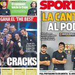 2017年10月24日(火)のバルセロナスポーツ紙:THE BESTとカンテラーノ