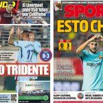 2017年10月25日(水)のバルセロナスポーツ紙:コパ・トリデンテが勝負を決めた
