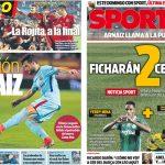 2017年10月26日(木)のバルセロナスポーツ紙:大評判のアルナイス
