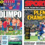 2017年10月31日(火)のバルセロナスポーツ紙:1/8ファイナル行きを決めるぞ