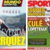 2017年11月13日(月)のバルセロナスポーツ紙:SUPERマルケス 4度目の世界王者!