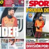 2017年11月22日(水)のバルセロナスポーツ紙:ユベントスとの実力テスト