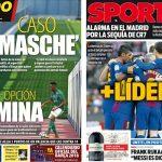 2017年12月04日(月)のバルセロナスポーツ紙:バレンシア敗れ、勝点差広がる