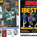 2017年12月12日(火)のバルセロナスポーツ紙:バルサ対チェルシー、白組対PSG!