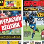 2017年6月8日(木)のバルセロナスポーツ紙:ベジェリンとベラッティ