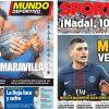 2017年6月12日(月)のバルセロナスポーツ紙:ナダル全仏10冠達成