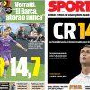 2017年6月14日(水)のバルセロナスポーツ紙:脱税のCR14.7