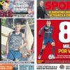 2017年6月20日(火)のバルセロナスポーツ紙:ベラッティ、7(8),000万ユーロ