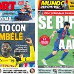 2017年6月22日(木)のバルセロナスポーツ紙:デンベレと合意?