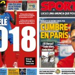 2017年6月23日(金)のバルセロナスポーツ紙:ベラッティは動き、デンベレは来年?
