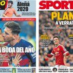 2017年6月29日(木)のバルセロナスポーツ紙:レオ&アントの結婚式近づく