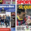 2017年6月30日(金)のバルセロナスポーツ紙:メッシとアントの結婚式当日