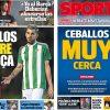 2017年7月04日(火)のバルセロナスポーツ紙:セバージョス接近?