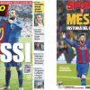 2017年7月06日(木)のバルセロナスポーツ紙:バルサがメッシとの契約更新を発表