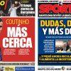 2017年7月26日(水)のバルセロナスポーツ紙:コウチーニョ近づき、ネイ迷う?