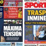 2017年7月29日(土)のバルセロナスポーツ紙:ネイマール間もなく退団か