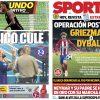 2017年7月30日(日)のバルセロナスポーツ紙:親善クラシコ勝利