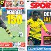2017年8月09日(水)のバルセロナスポーツ紙:デンベレの入団近づく?