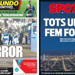 2017年8月18日(金)のバルセロナスポーツ紙:バルセロナでテロ事件発生