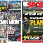 2017年8月19日(土)のバルセロナスポーツ紙:「私たちは恐れない」