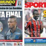 2017年8月22日(火)のバルセロナスポーツ紙:セリ、獲得間近っぽい