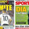 2017年9月01日(金)のバルセロナスポーツ紙:コウチーニョ獲得の最終日