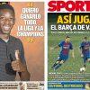 2017年9月04日(月)のバルセロナスポーツ紙