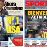 2017年9月11日(月)のバルセロナスポーツ紙:ナダル、全米オープン優勝!